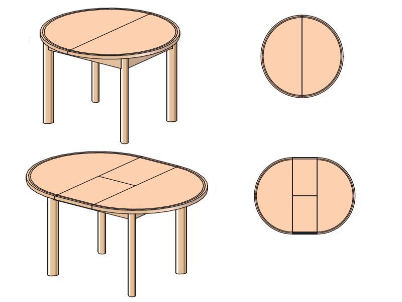 Стол кухонный круглый Веста
